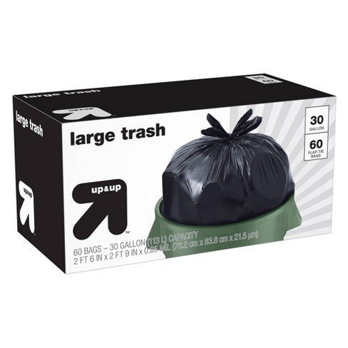 Large Flap-Tie Trash Bags - 30 Gallon - 60ct - up & up™ - image 1 of 1