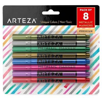 Arteza Metallic Markers, Set of 8