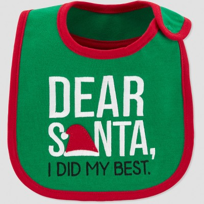 Baby's Dear Santa Bib - Just One You® made by carter's Green