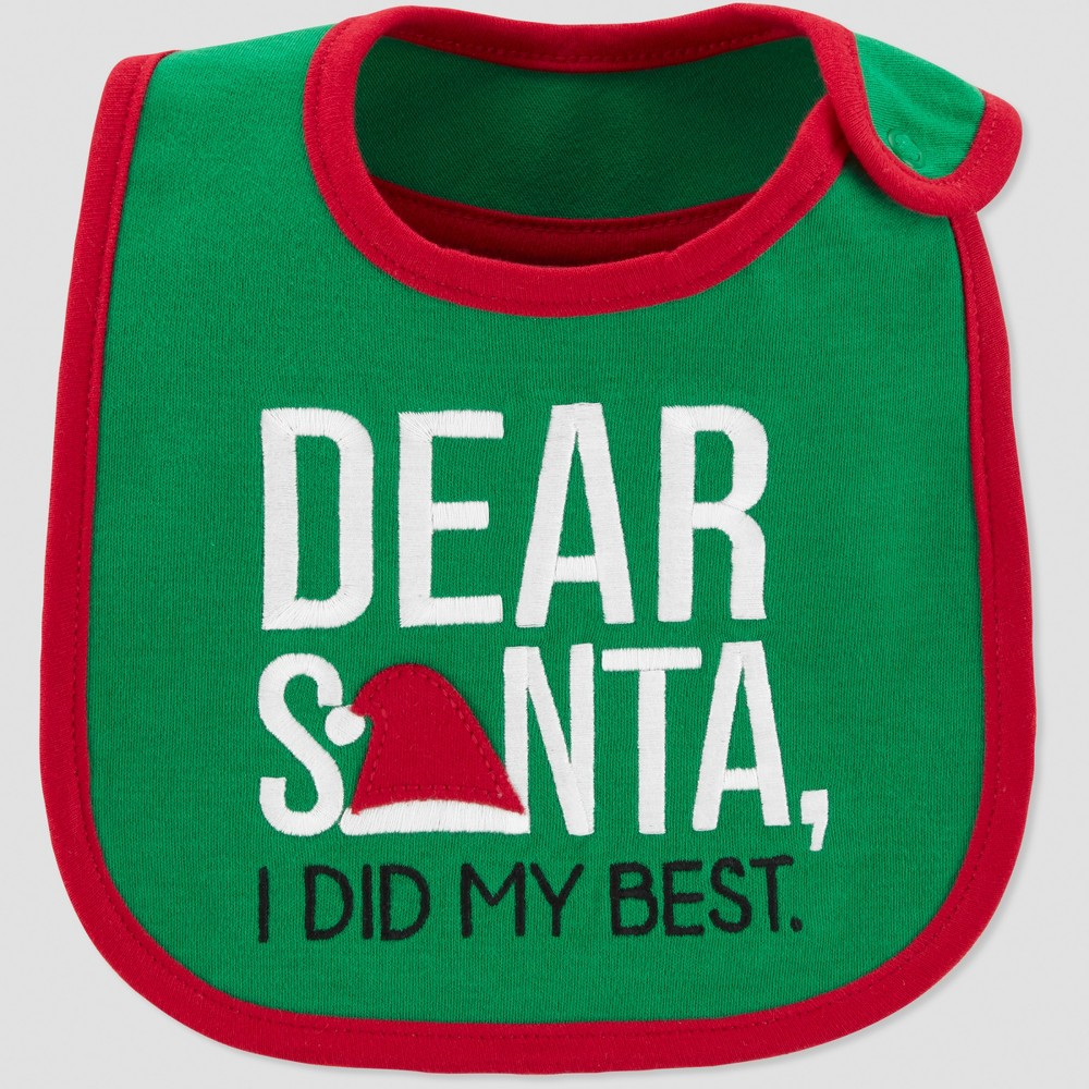 Baby's Dear Santa Bib - Just One You made by carter's Green