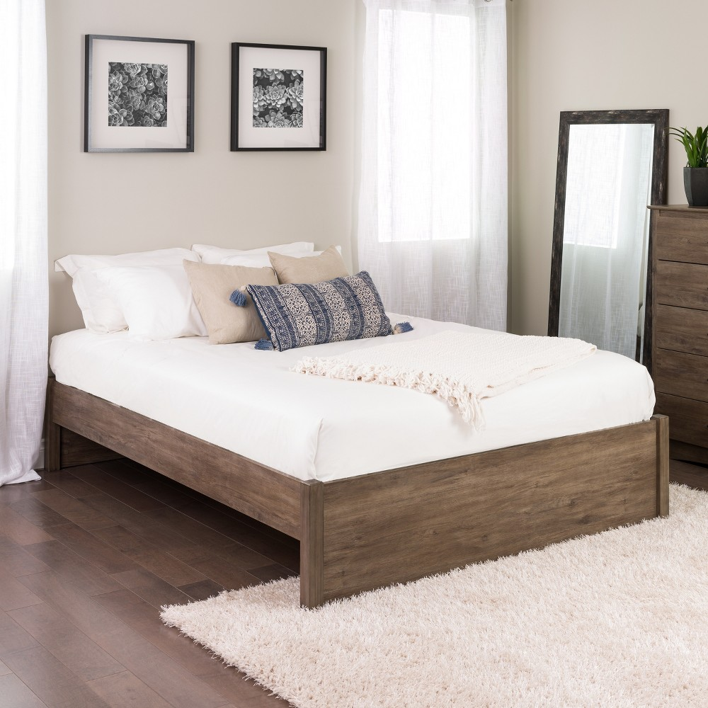 Queen Select 4 - Post Platform Bed Drifted Gray - Prepac