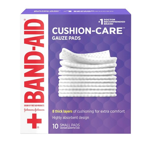 Band-Aid Brand Cushion Care Gauze Pads, Small, 2 in x 2 in - 10 ct - image 1 of 4