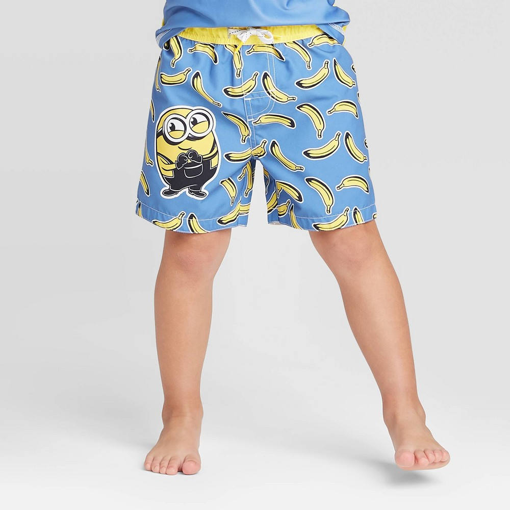 Image of Toddler Boys' Minions Swim Trunks - Yellow 2T, Boy's
