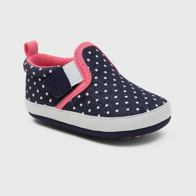 Ro+Me by Robeez Baby Girls' Denim Canvas Sneakers - Blue