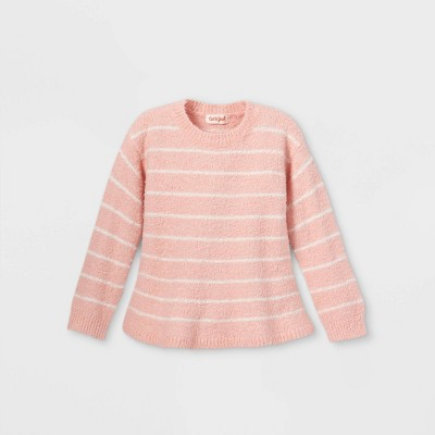 Toddler Girls' Striped Peplum Pullover Sweater - Cat & Jack™ Pink