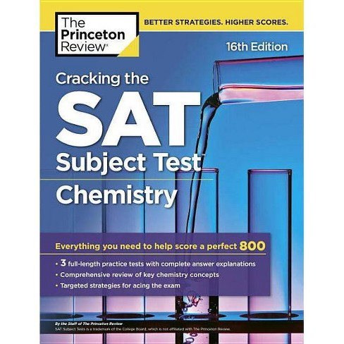 Cracking the SAT Subject Test in Chemistry, 16th Edition - (College Test  Preparation)(Paperback)