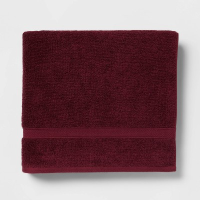 Soft Solid Bath Towel Maroon - Opalhouse™