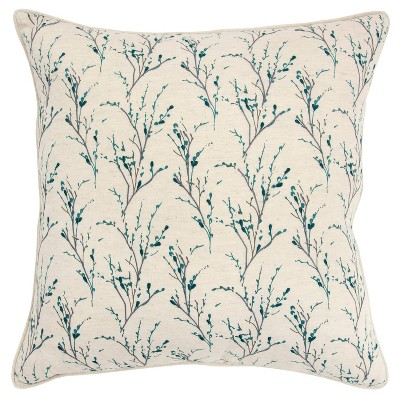 """20""""x20"""" Floral Polyester Filled Pillow - Rizzy Home"""