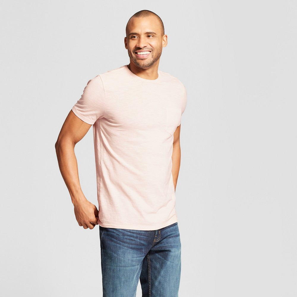 Men's Standard Fit Short Sleeve Crew Neck T-Shirt - Goodfellow & Co Dusk Pink S