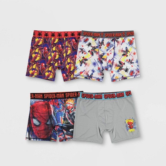 Boys' Spider-Man 4pk Boxer Briefs - image 1 of 3