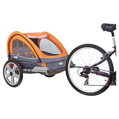 InSTEP Quick and Eazy Bicycle Trailer - Orange/ Gray (Double)