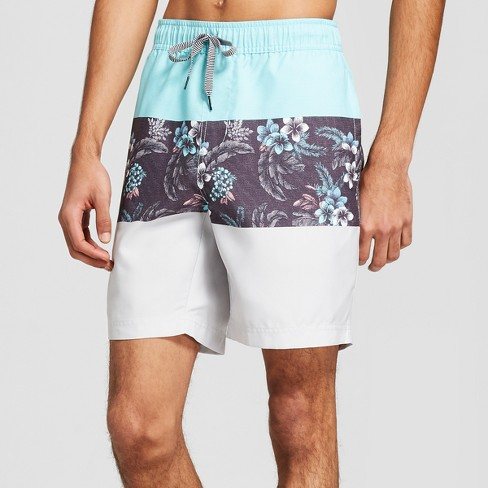 "Men's 7.5"" Midnight Elastic Waist Board Shorts - Trinity Mint - image 1 of 3"