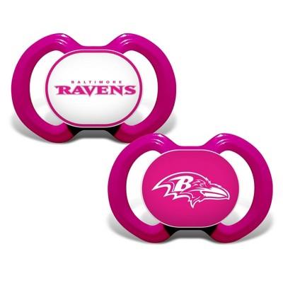 NFL Baltimore Ravens Pink Pacifiers 2pk