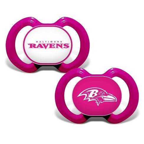big sale d0c8e ec6c7 NFL Baltimore Ravens Pink Pacifiers 2pk