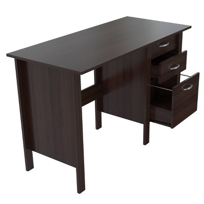 Writing Desk with 3 Drawers Espresso - Inval