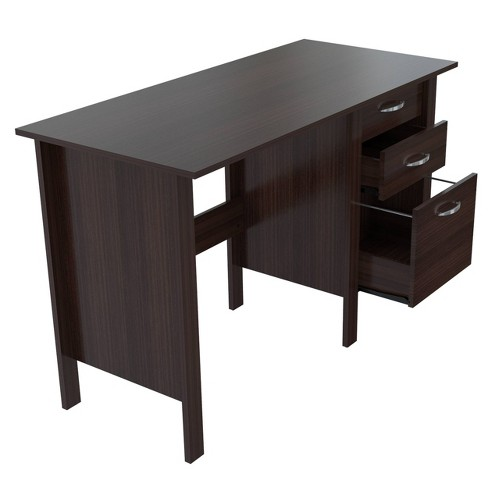 Writing Desk with 3 Drawers Espresso - Inval - image 1 of 4