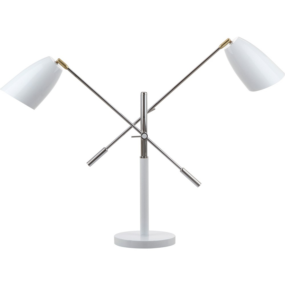 "Image of ""Mavis 32"""" H Adjustable Table Lamp White (Includes Light Bulb) - Safavieh"""