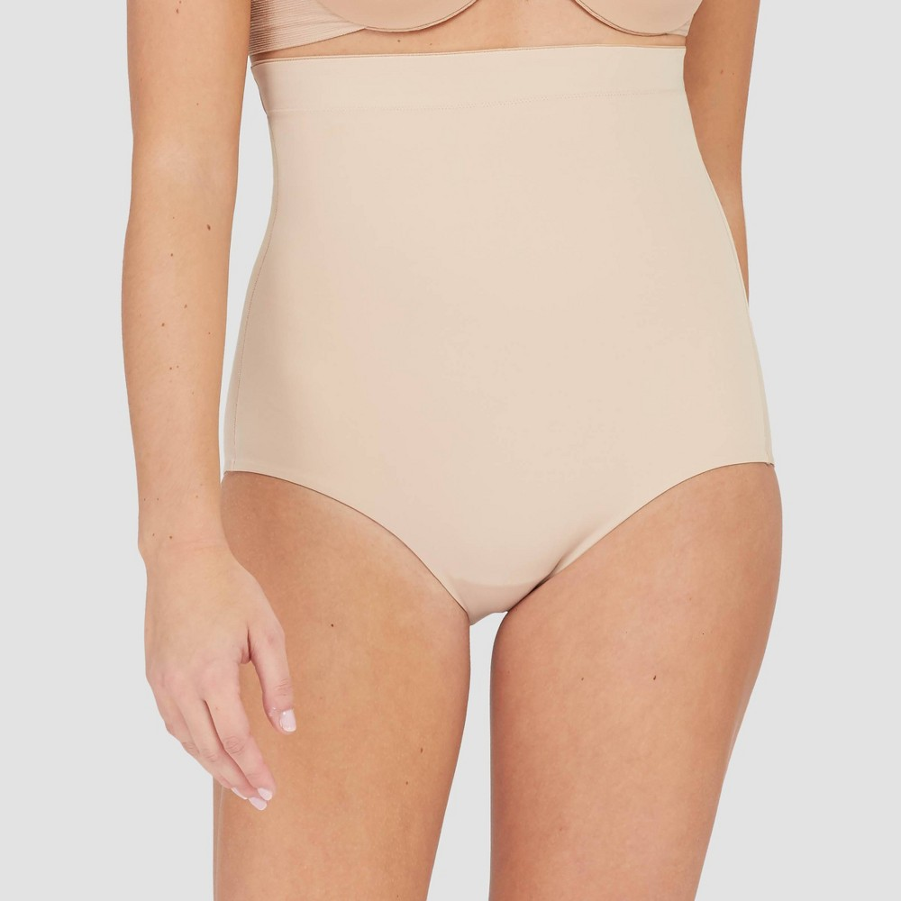 Assets By Spanx Women 39 S Thintuition Shaping High Waist Brief Beige M