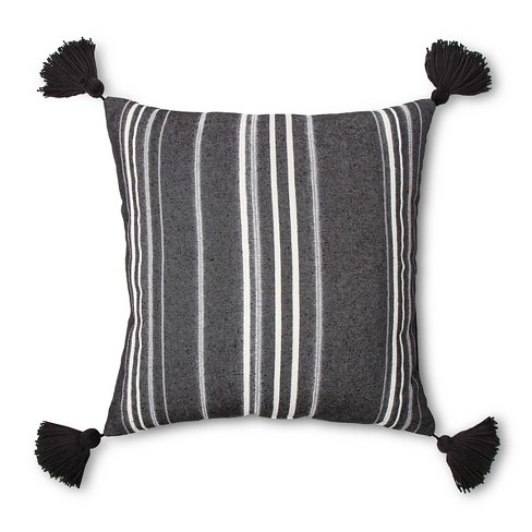 Black Throw Pillow - Threshold™ - image 1 of 1