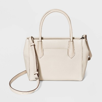 Zip Closure Satchel Handbag - A New Day™