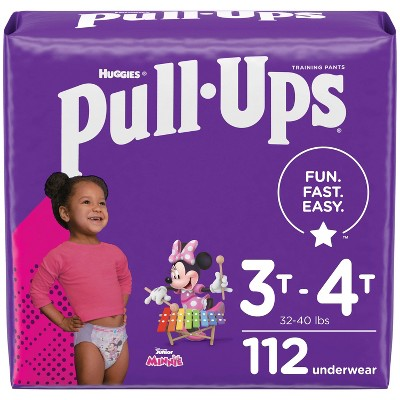 Pull-Ups Girls' Learning Design Pack Training Disposable Pants - 3T-4T - 112ct