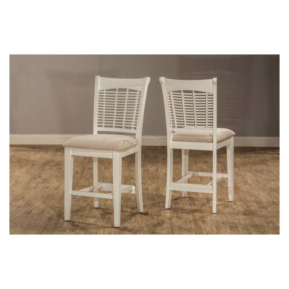 Bayberry 9pc Dining Set Woven Fabric top Off White - Hillsdale Furniture, Light Off-White