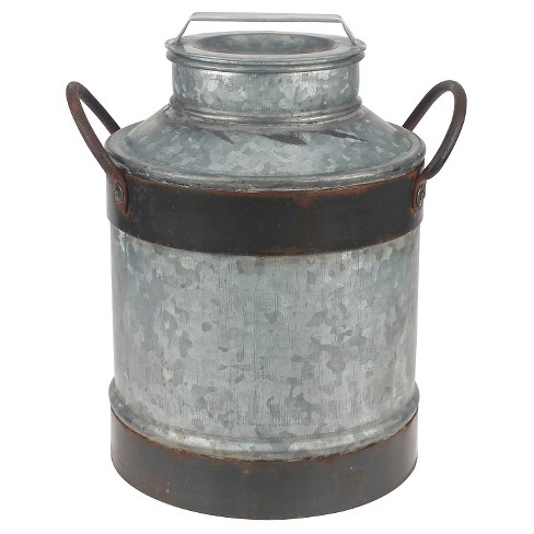 Stonebriar Farmhouse Galvanized Milk Jug with Rust Trim - image 1 of 3