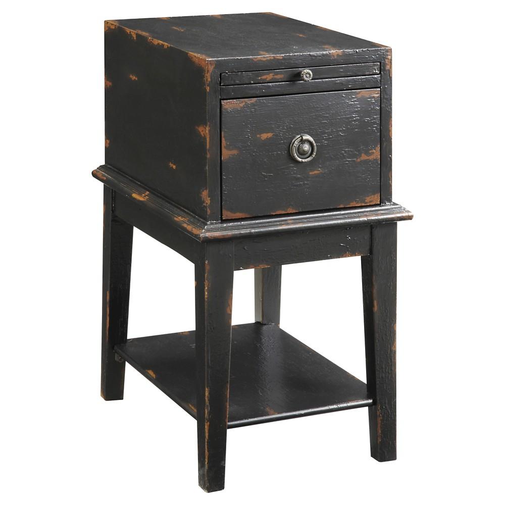 Buy Esnon One Drawer Chest Black - Treasure Trove