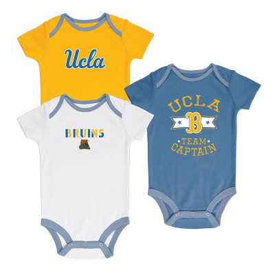 UCLA Bruins Newest Fan 3pk Bodysuit Set 0-3 M