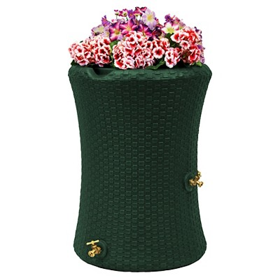 Impressions Nantucket 50 Gallon Rain Saver - Green - Good Ideas