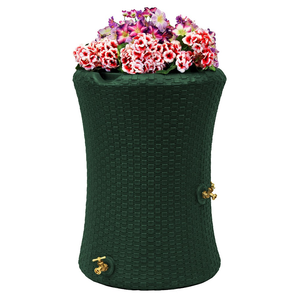 Image of Impressions Nantucket 50 Gallon Rain Saver - Green - Good Ideas
