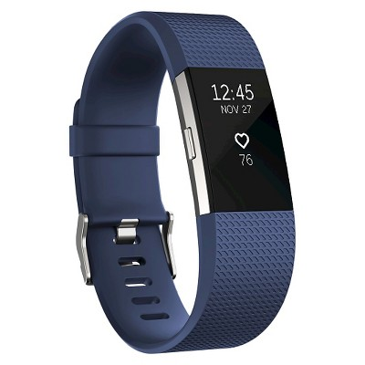 Fitbit® Charge 2 Heart Rate + Fitness Wristband - Blue (Large)