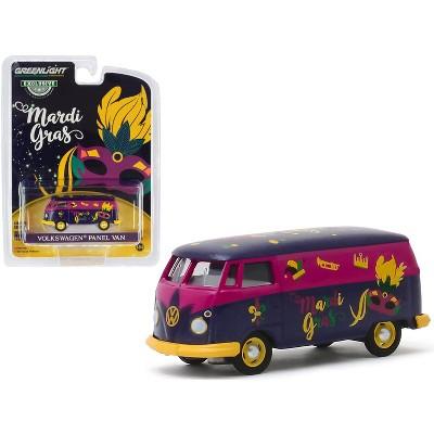 """Volkswagen Panel Van Purple Metallic """"Mardi Gras - 2020"""" """"Hobby Exclusive"""" 1/64 Diecast Model by Greenlight"""