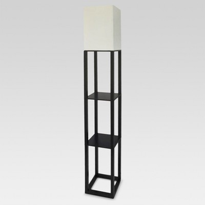 Shelf Floor Lamp Black Includes Energy Efficient Light Bulb - Threshold™
