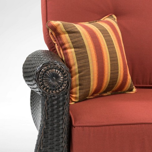 La Z Boy Outdoor Breckenridge 1pc Wicker Swivel Rocker Set With Sunbrella Cushion Target