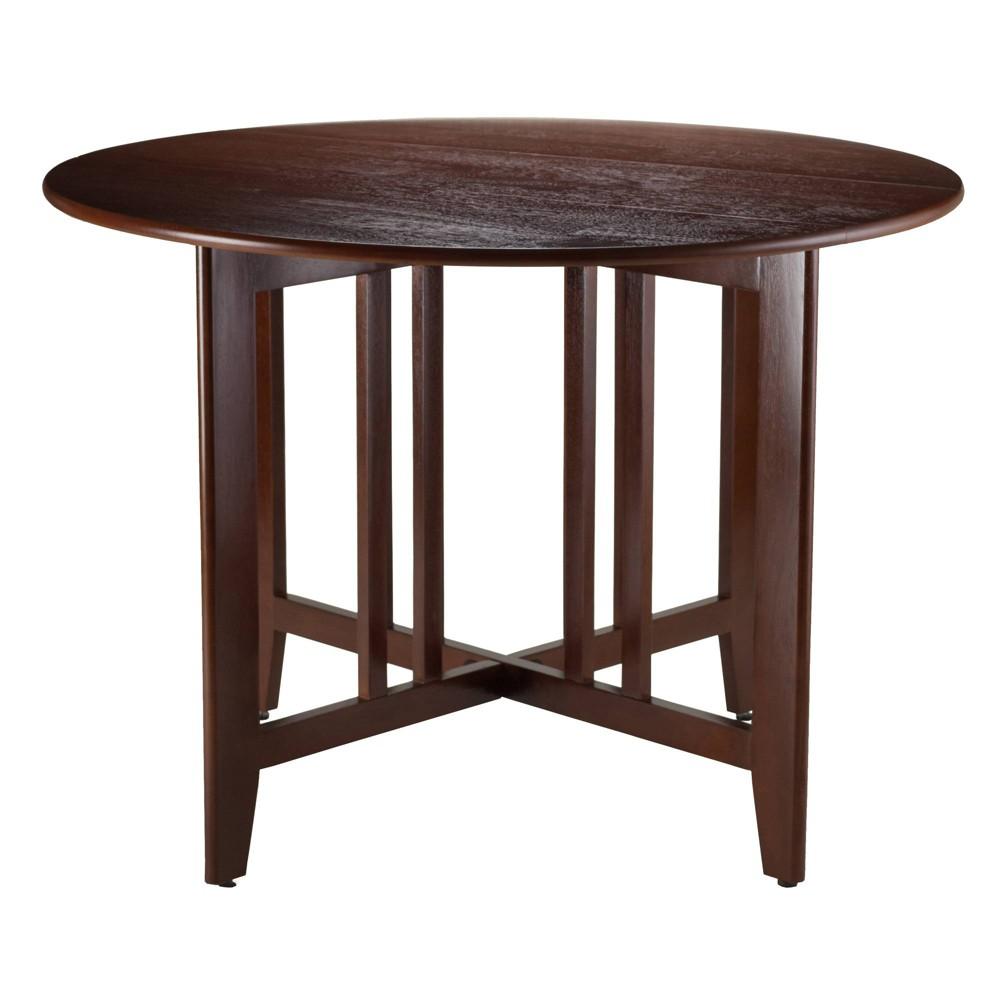Alamo 42 Double Drop Leaf Table Wood/Walnut (Brown) - Winsome