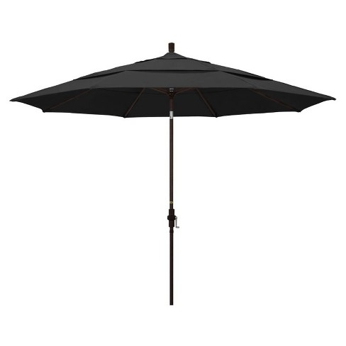 11' Patio Umbrella in Black - California Umbrella - image 1 of 2