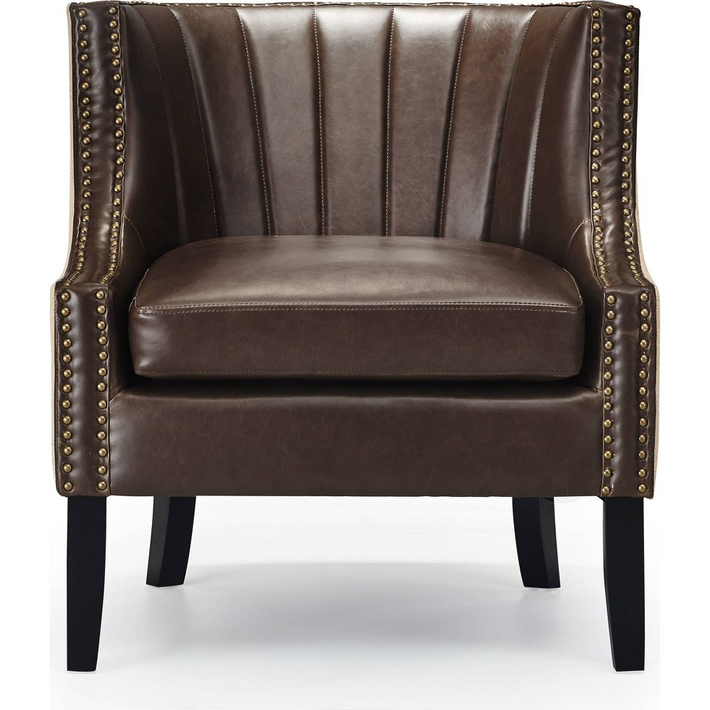 "Image of ""24"""" Amelie Mid-Century Modern Arm Chair - Adore Décor, Brown"""