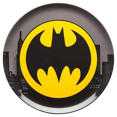 Batman Melamine 10.063  Dinner Plate Black - Zak Designs