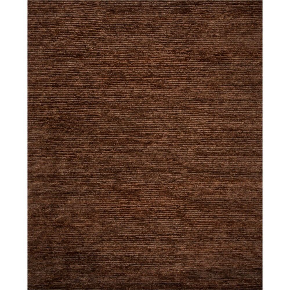 9'X12' Solid Knotted Area Rug Brown - Safavieh
