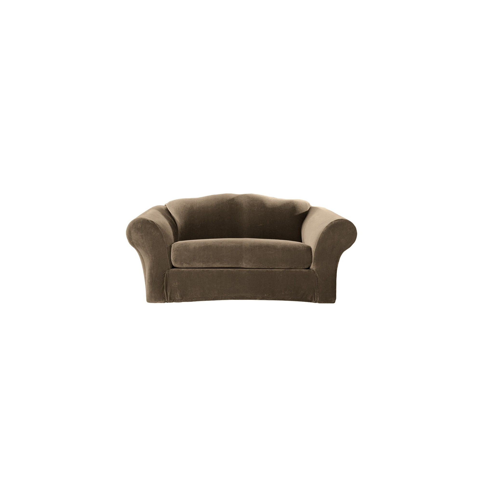 Stretch Pique 2 Piece Sofa Slipcover Taupe - Sure Fit, Brown