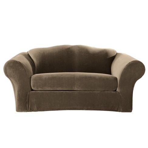 Stretch Pique 2 Piece Sofa Slipcover