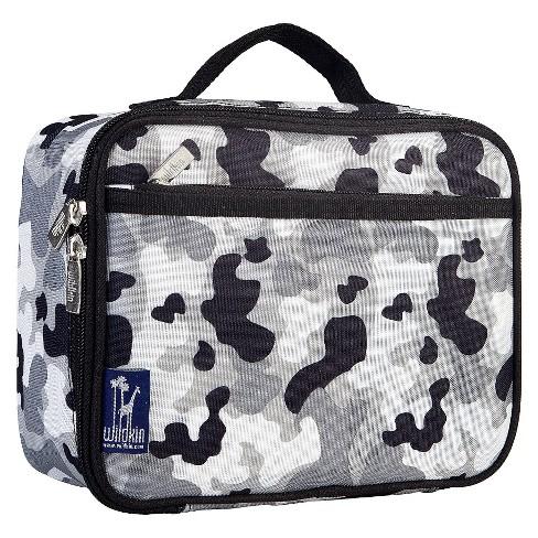 wildkin camouflage lunch box gray target