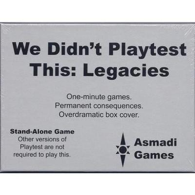 We Didn't Playtest This - Legacies Board Game
