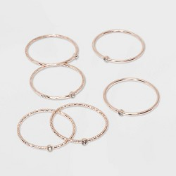 Clear Stones Ring Set - A New Day™ Rose Gold