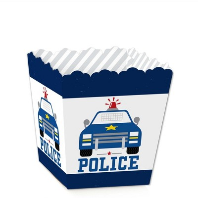 Big Dot of Happiness Calling All Units - Police - Party Mini Favor Boxes - Cop Birthday Party or Baby Shower Treat Candy Boxes - Set of 12
