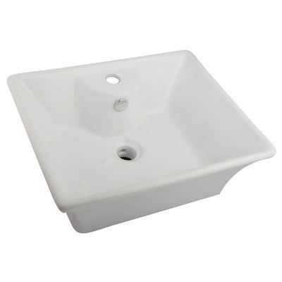 Single-Hole Vitreous China Vessel Bathroom Sink - Kingston Brass