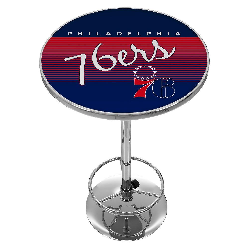 Philadelphia 76ers Hardwood Classics Chrome Pub Table