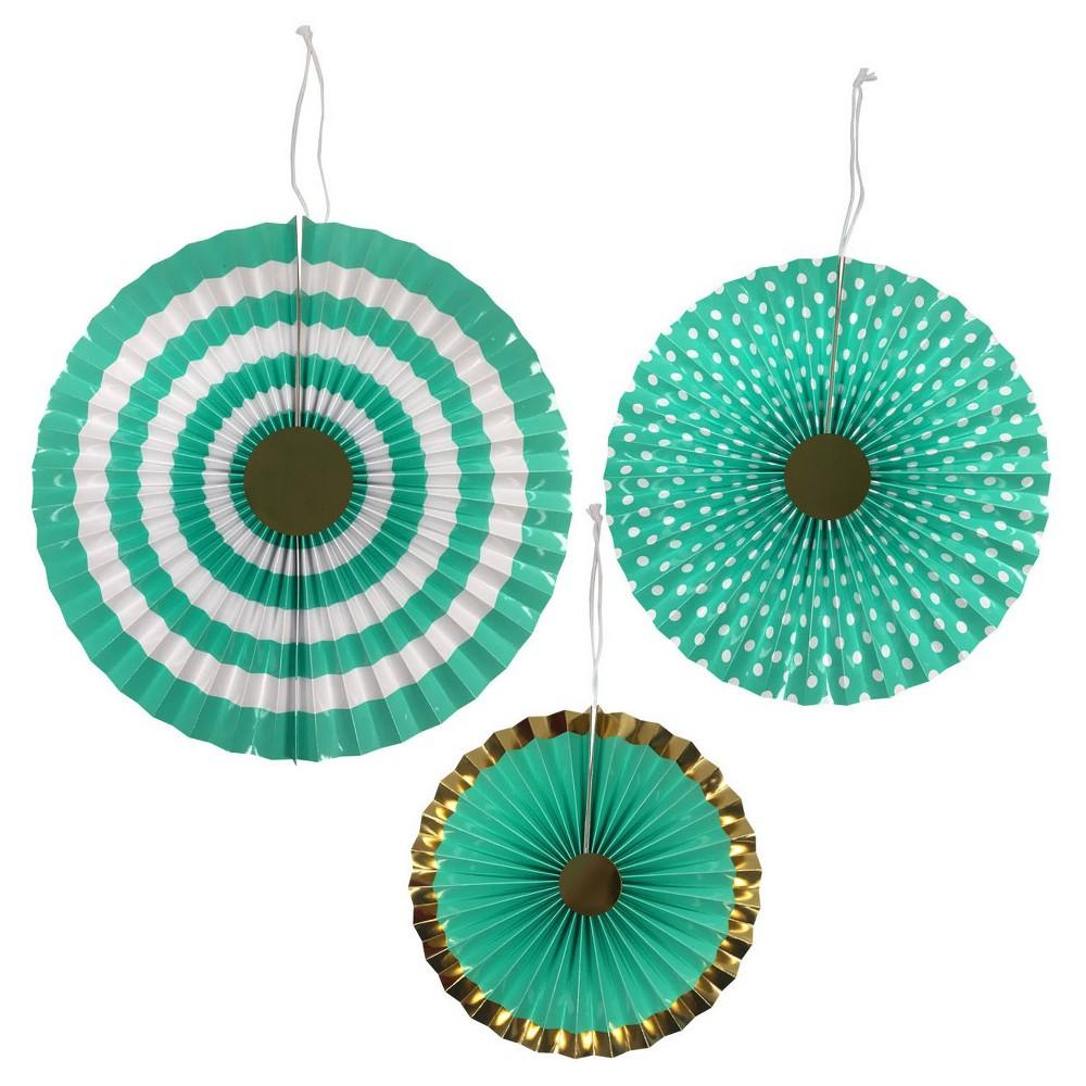 3ct Turquoise Paper Fan - Spritz, Women's, Green
