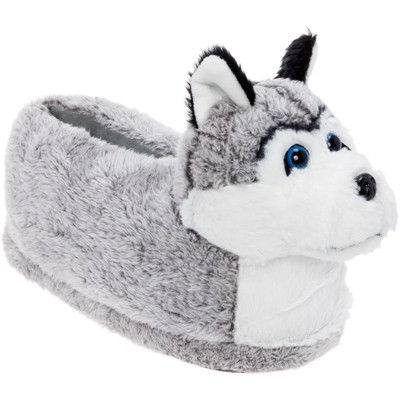 FUNZIEZ! - Women's Siberian Husky Animal Slippers